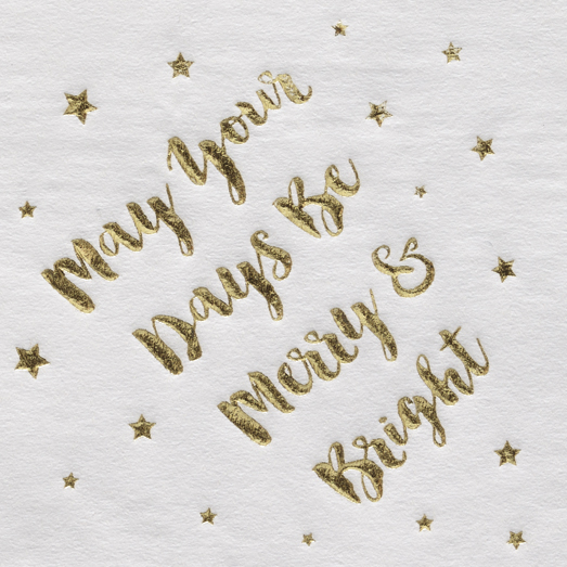 Hot Stamp/Foil - Metallic Gold Foil on Napkin