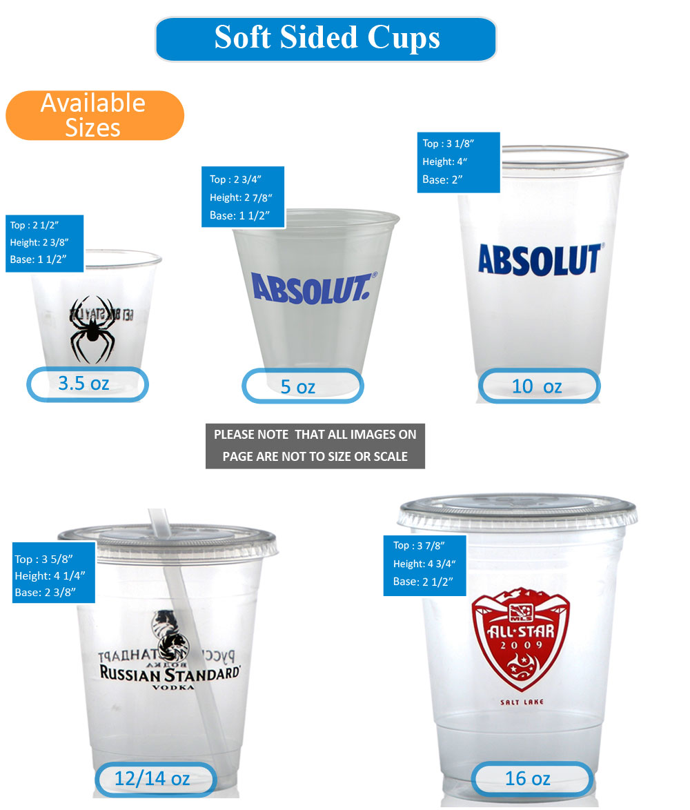 Soft Sided Plastic Cup Sizes