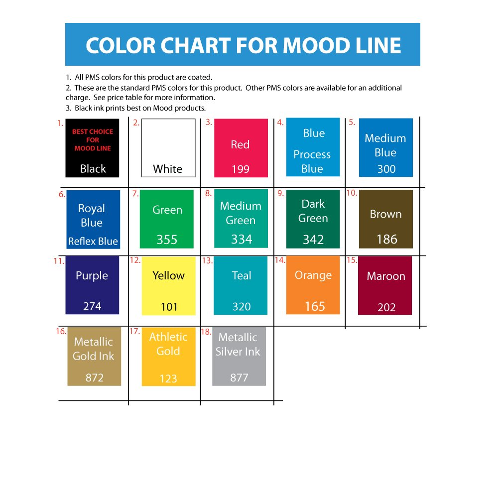 28 Mood Colors Chart Printable Mood Colors Charts