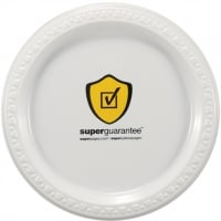 1-Color Imprint 7\  Custom White Plastic Plates  sc 1 st  Party Innovations & Paper and Plastic Plates with Custom Logo   PartyInnovations