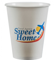 4df221457d8 8 oz. Custom White Paper Cups, Full-Color Imprint | PartyInnovations